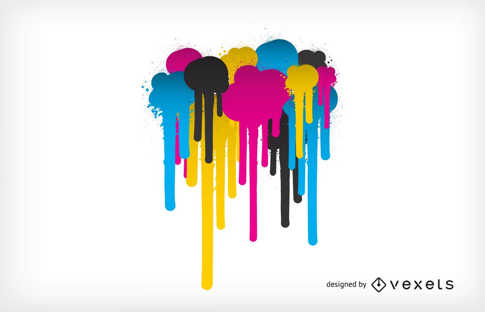 Cmyk Color Theme Vector