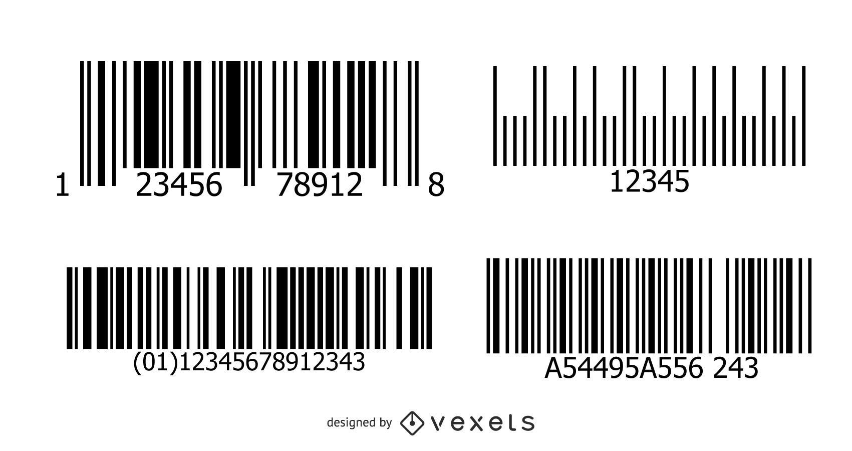 Pacote de Design de Código de Barras de Texto Editável