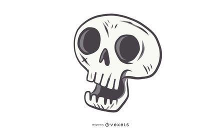 Alternativa linda del vector del cráneo