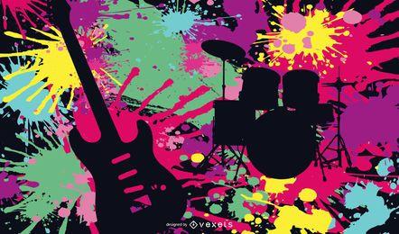 Vetor de cartaz de rock louco psicodélico
