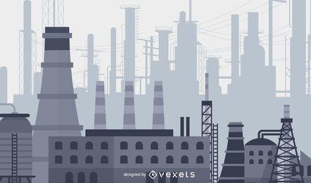 Vector material de planta de industrias pesadas