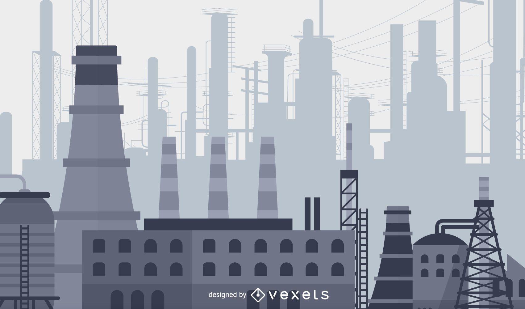 Heavy Industry illustration design
