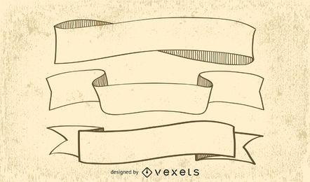 European Old Ribbon Vector