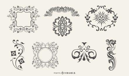 Ornamente und Flourishes