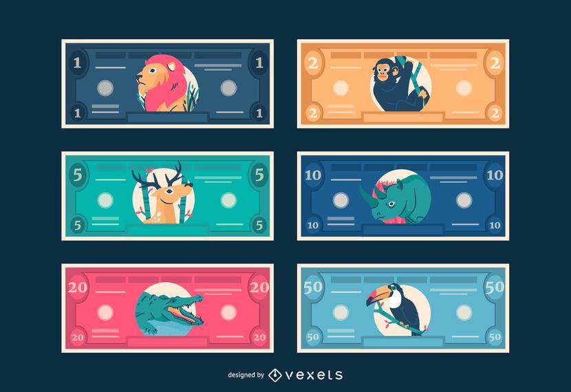 Kid Bucks Animal Themed Printable Play Money