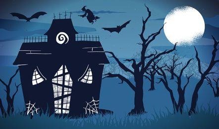 Vetor de noite de Halloween