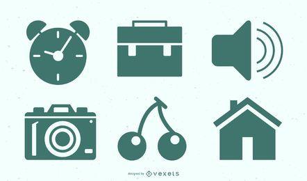 Conjunto de ícones de trabalho freelance