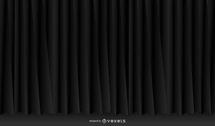 Vector de tela negro