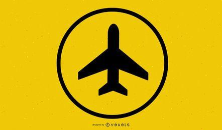 Flughafen-Zeichen-Vektor