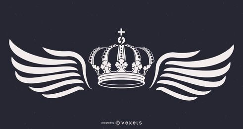 king crown and wings illustration