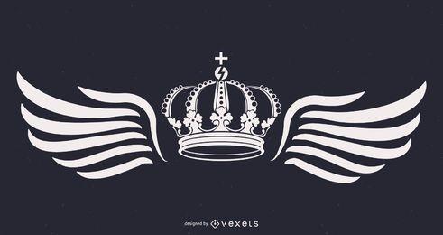 Rey corona y alas