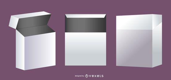 Set de 2 cajas de plástico de embalaje