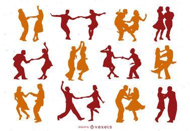 Pack de vectores de baile