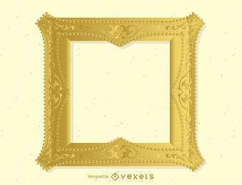 Quadro de ouro antigo 04 Vector