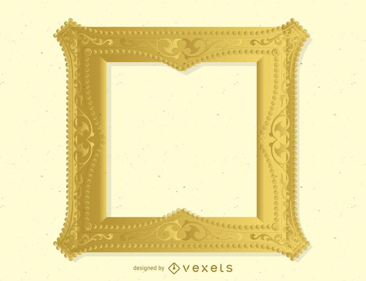 Antique Gold Frame 04 Vector