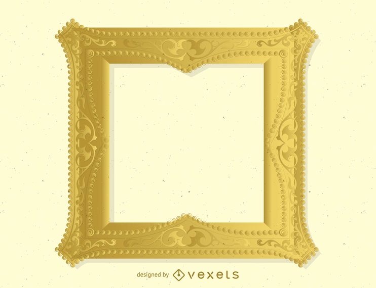 Marco de oro antiguo 04 Vector