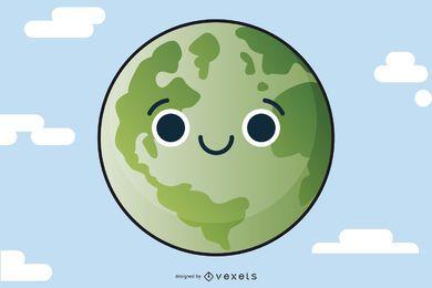 Ilustração da Terra Verde