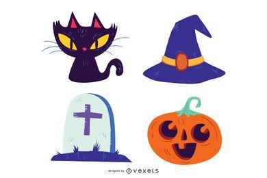 Halloween Vektoren Pack