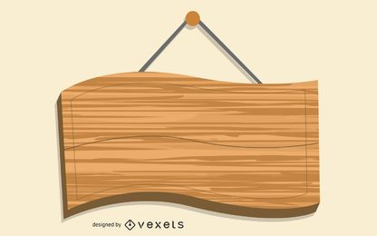 Wooden Hanging Board Template