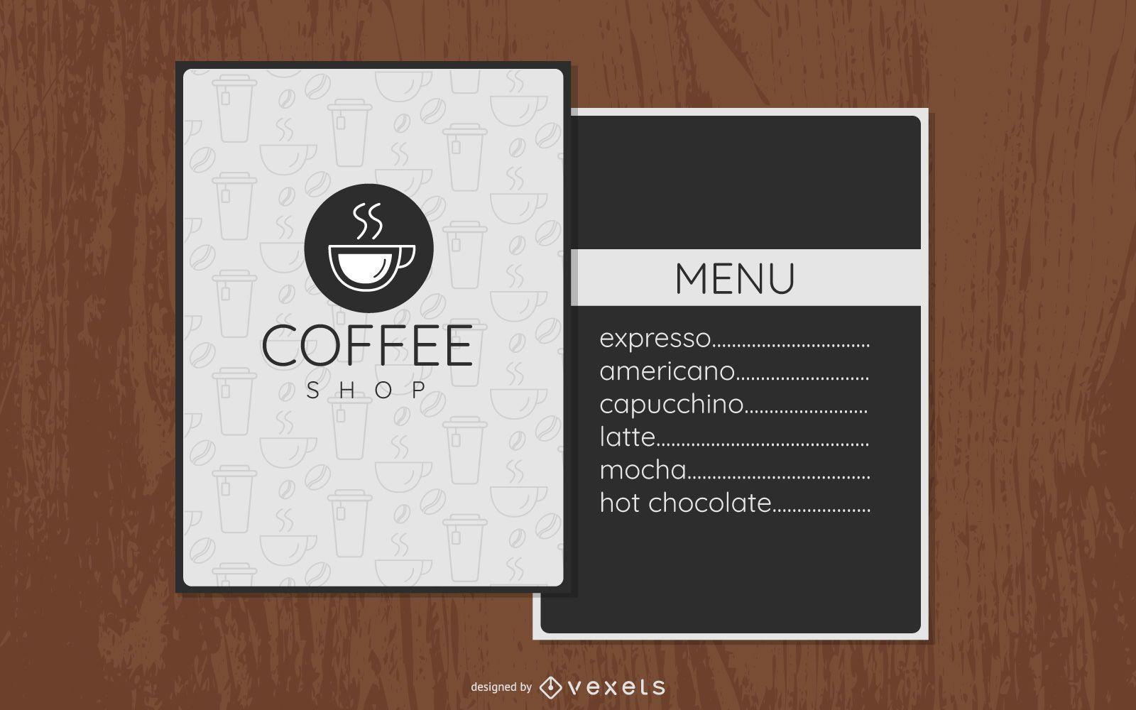 Coffee Shop Minimalistic Menu Design