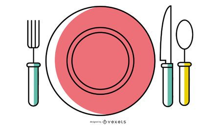 Western Tableware Vector