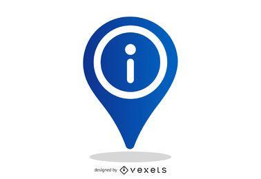 Icono de puntero de información vectorial