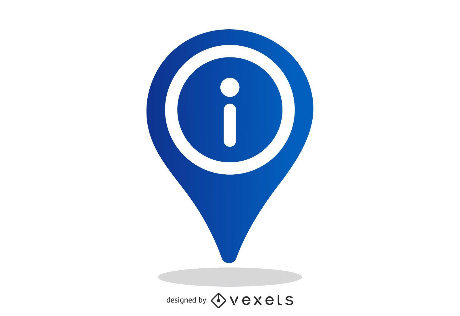 Vector Info Pointer Icon