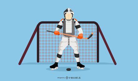 Jugador de hockey vector