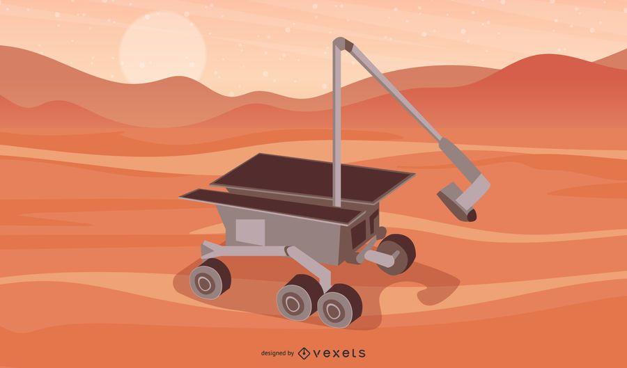 Space Robot Vector 2