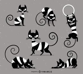 Gato rayado travieso vector