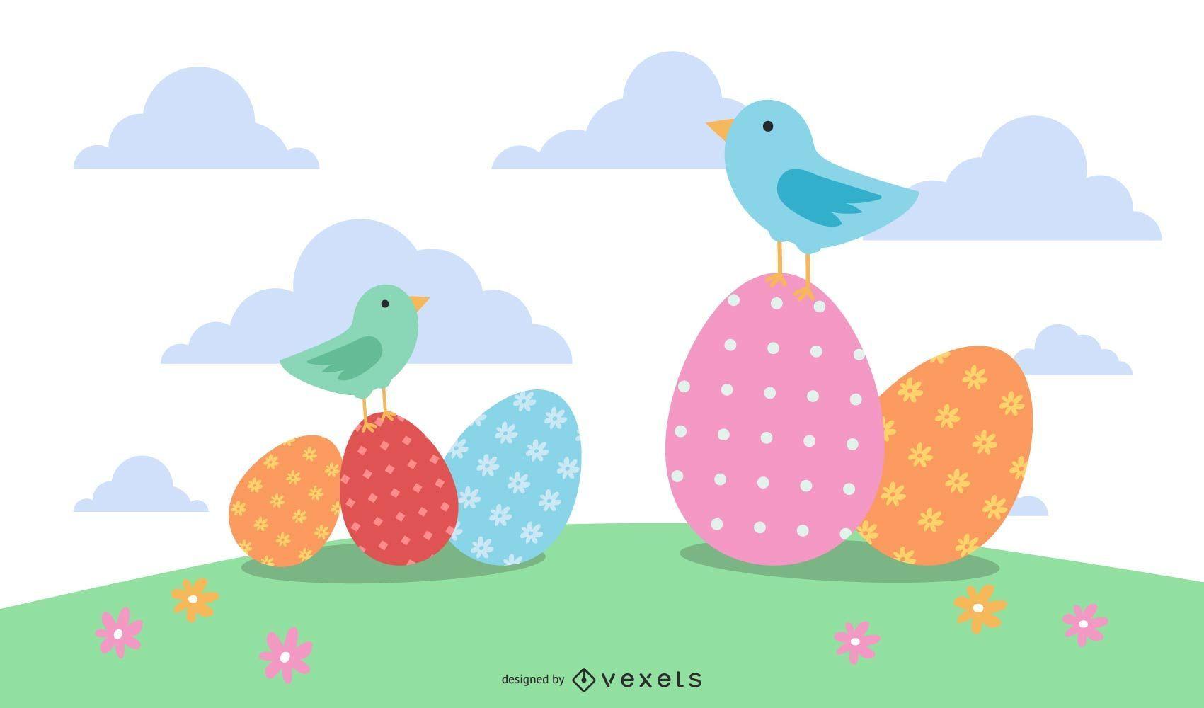 4 cute Easter designs