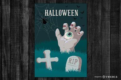 Vetor de cartaz de horror de Halloween