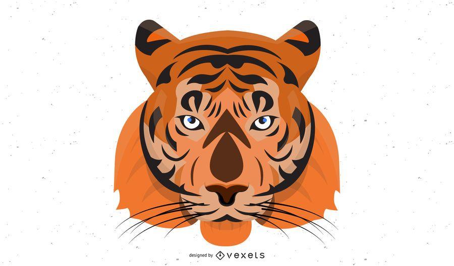 Vetor de imagem 08 de tigre