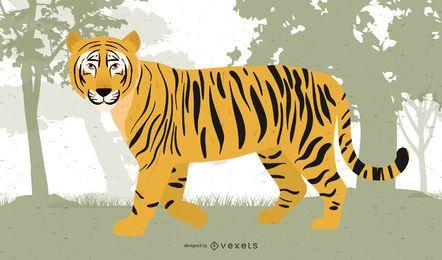 Vetor de tigre imagem 05