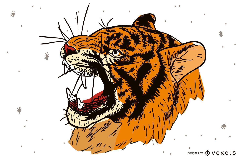 Vector de imagen de tigre 30