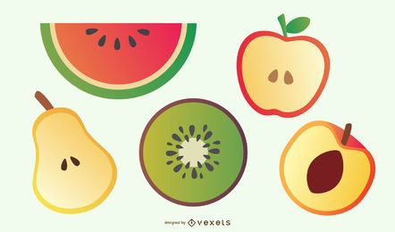 Delicious Fruit Slices 01 Vector