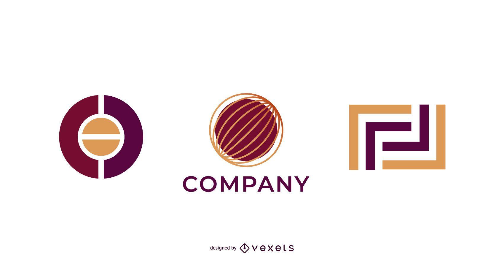Una amplia gama de vectores de plantillas de logotipos gráficos