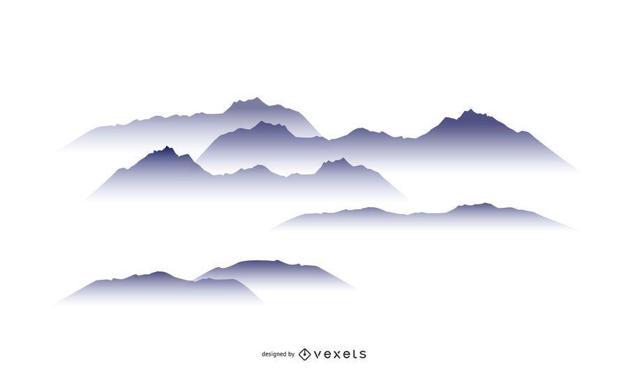 Cloudy Mountain Design Set