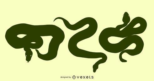 Gomedia-Schlangen produzierten Vektor