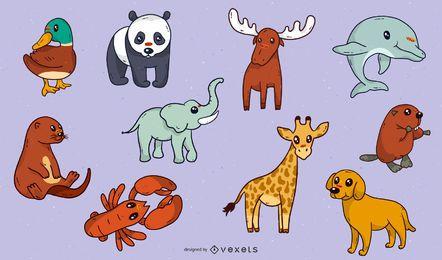 Variedade de vetores de animais