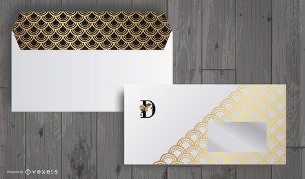 5 Vector hermoso elegante del sobre
