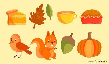 Vector de estilo de otoño