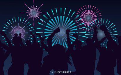 Festival de fogos de artifício 01 Vector