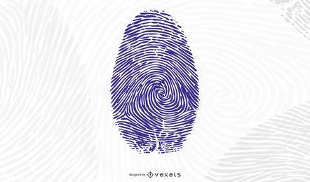 Palma de la mano y vector de huellas dactilares