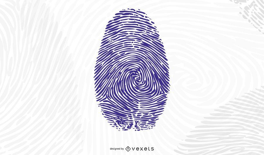 Hand palm and Fingerprint Vector