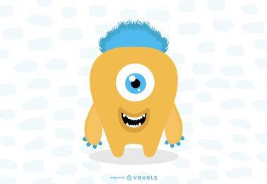 Bestia monstruosa de ojos pequeños