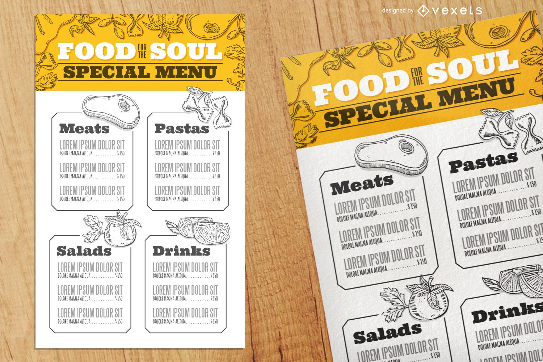Promotor de alimentos - Diseño editable