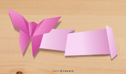 Origami-dekorativer Grafik-Vektor 1