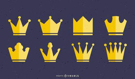Vector de serie de corona europea