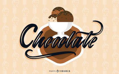 Vector de elementos de helado de chocolate